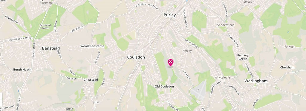 hairdresser in Purley, Kenley, Coulsdon and Old Coulsdon map